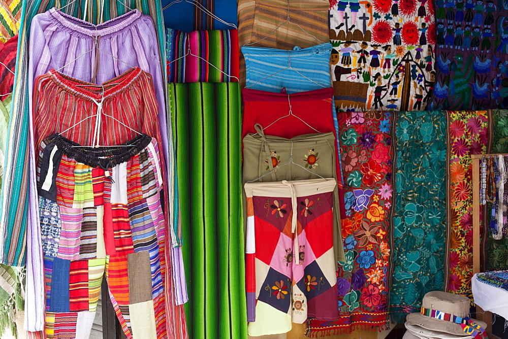 Local Handicrafts, San Pedro La Laguna, Lago Atitlan, Guatemala, Central America
