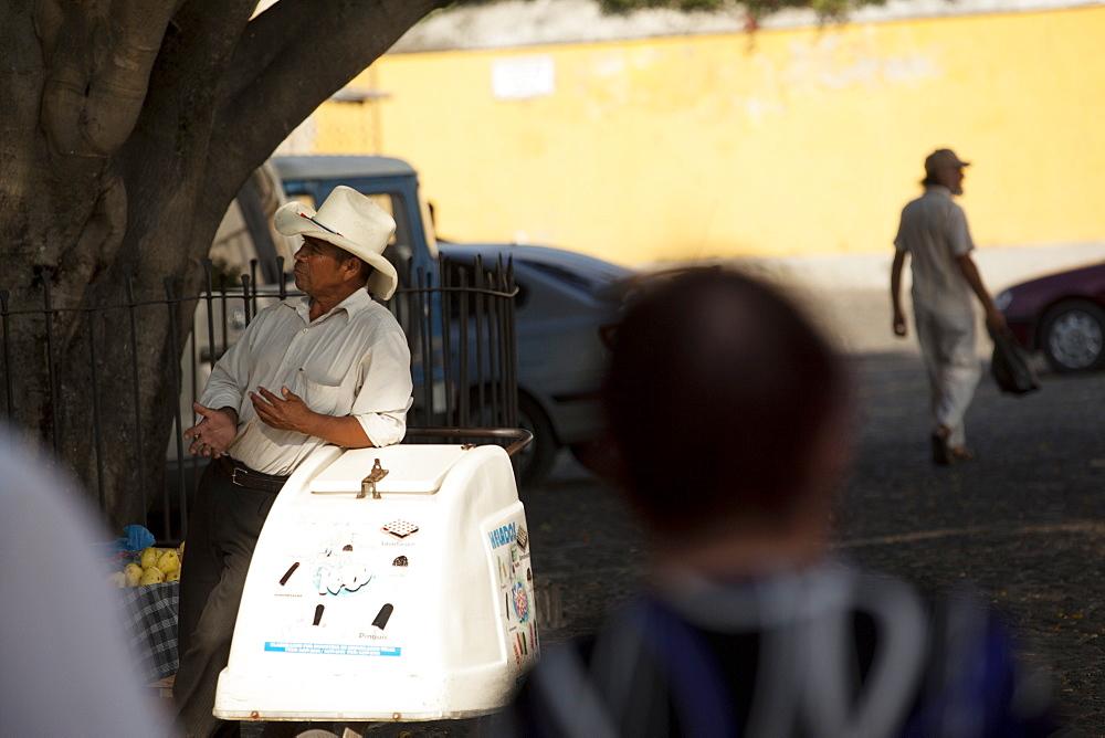 Ice cream man, Antigua, Guatemala, Central America - 757-272