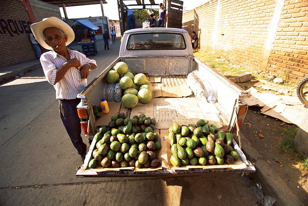 Avocado vendor, Comayagua, Honduras, Central America