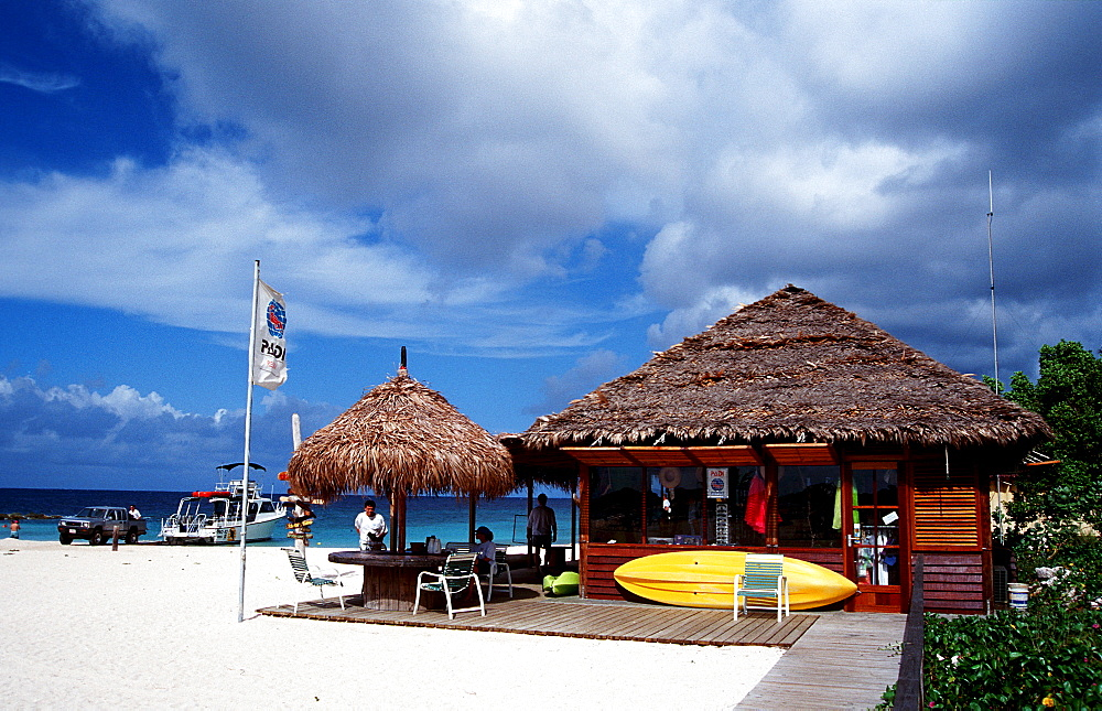Diving school on the beach, Curacao, Caribbean Sea, Netherlands antilles