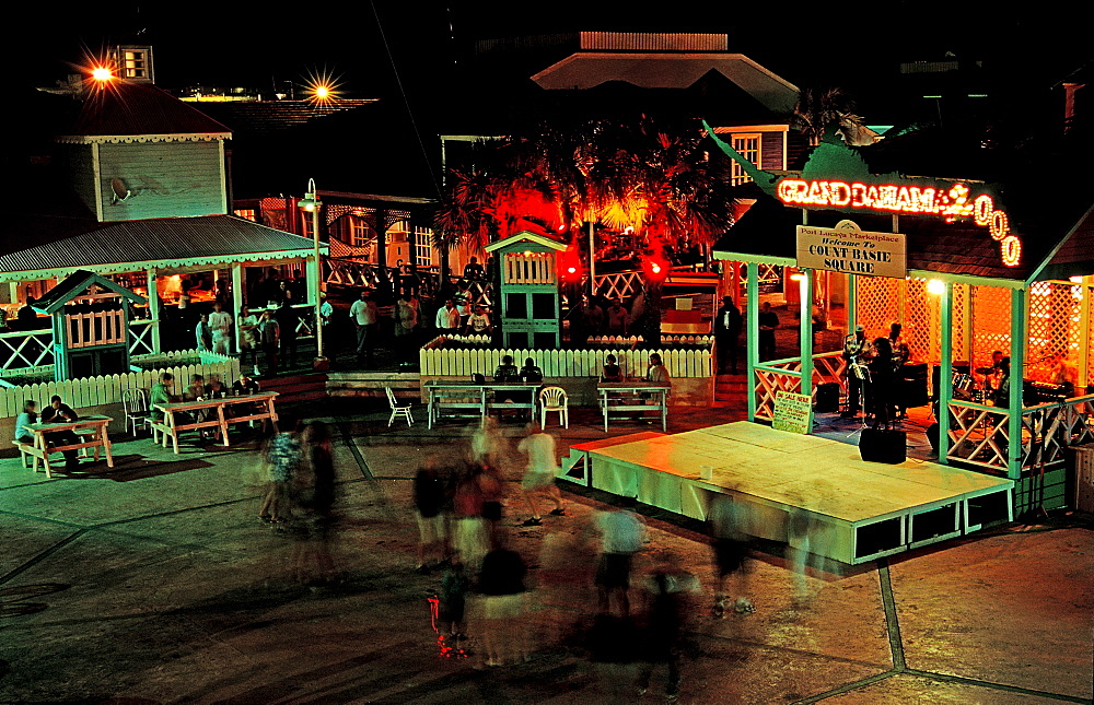 Night live, Freeport, Bahamas, Caribbean, Sea, Grand Bahama Island