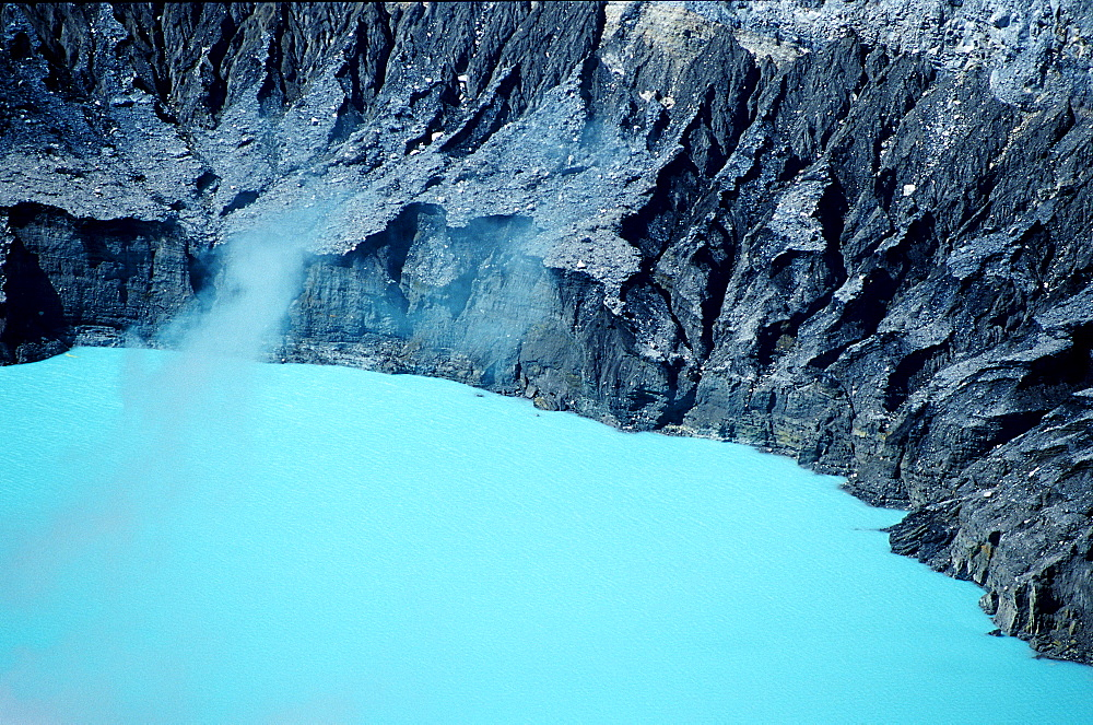 Crater of the Poas Volcano, Costa Rica, South america, Cocos Island, South america, Latin america - 759-1987