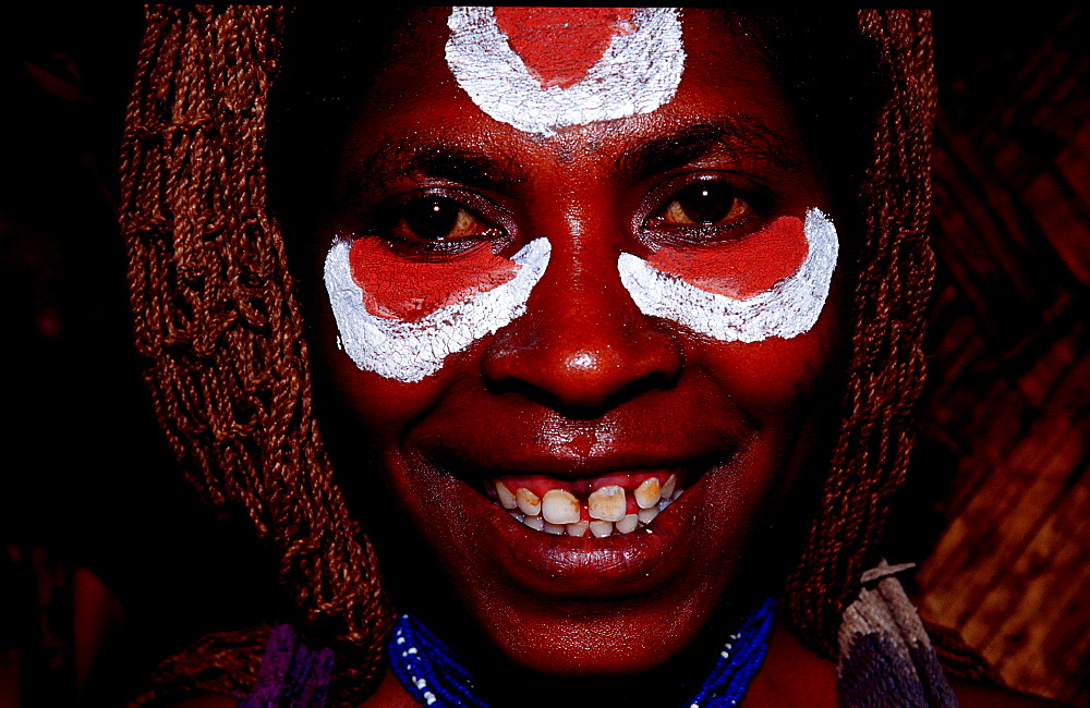 Huli woman, Papua New Guinea, Tari, Huli, Highlands