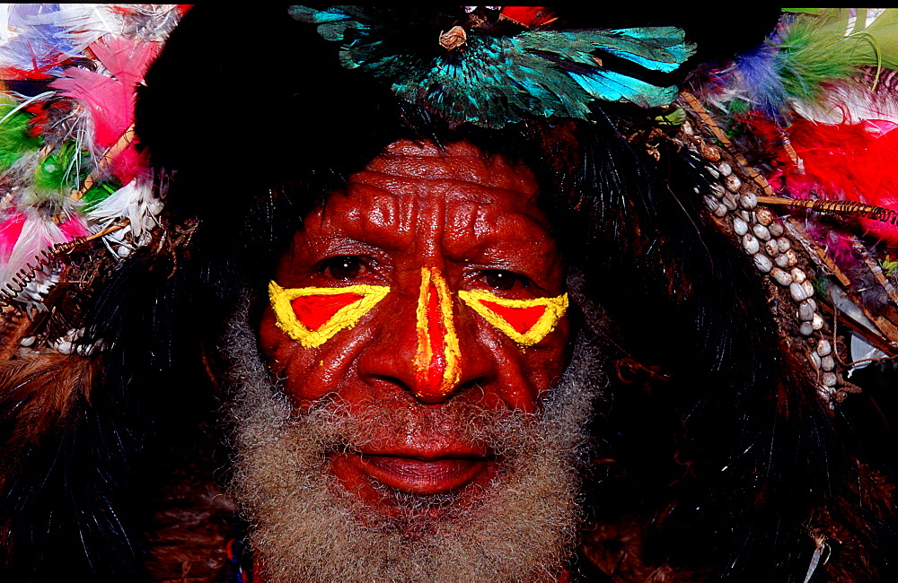 Huli wigman, Papua New Guinea, Tari, Huli, Highlands