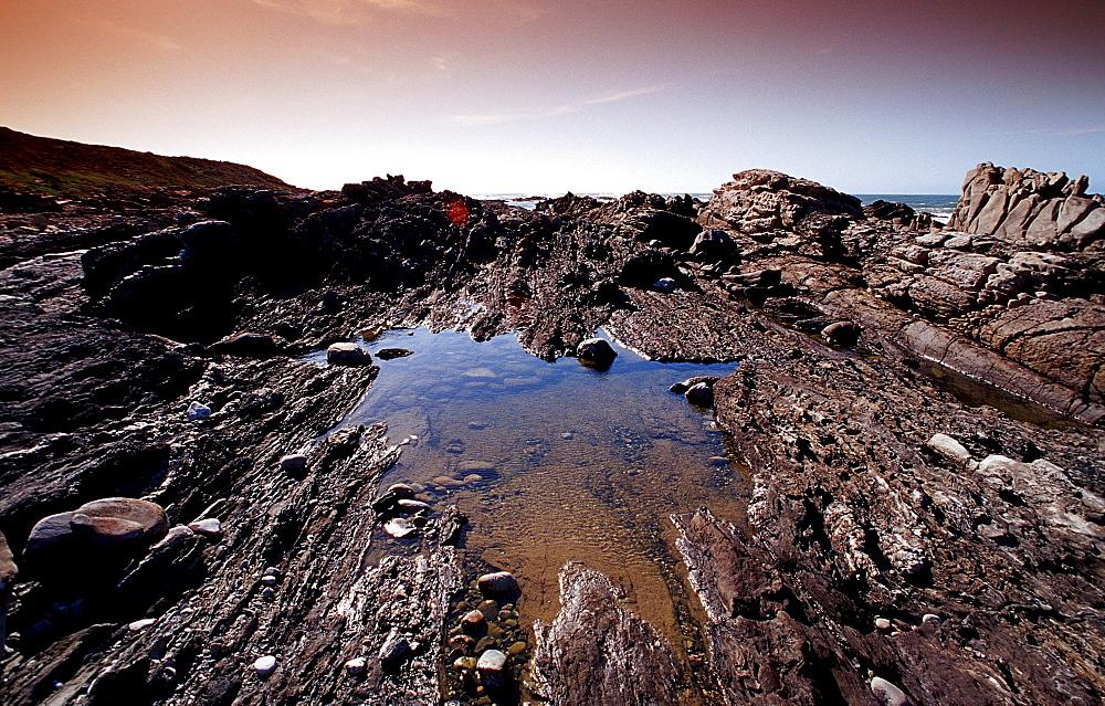 Rock coast, South Africa, Port Elizabeth, Ibhayi