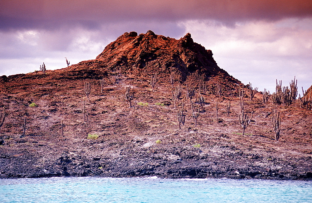 Volcano on Santiago, James, Ecuador, South America, Galápagos, Galapagos, Island, Pacific Ocean