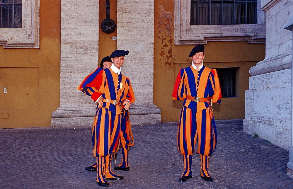 Swiss guards, Italy, Rome, Vatican City