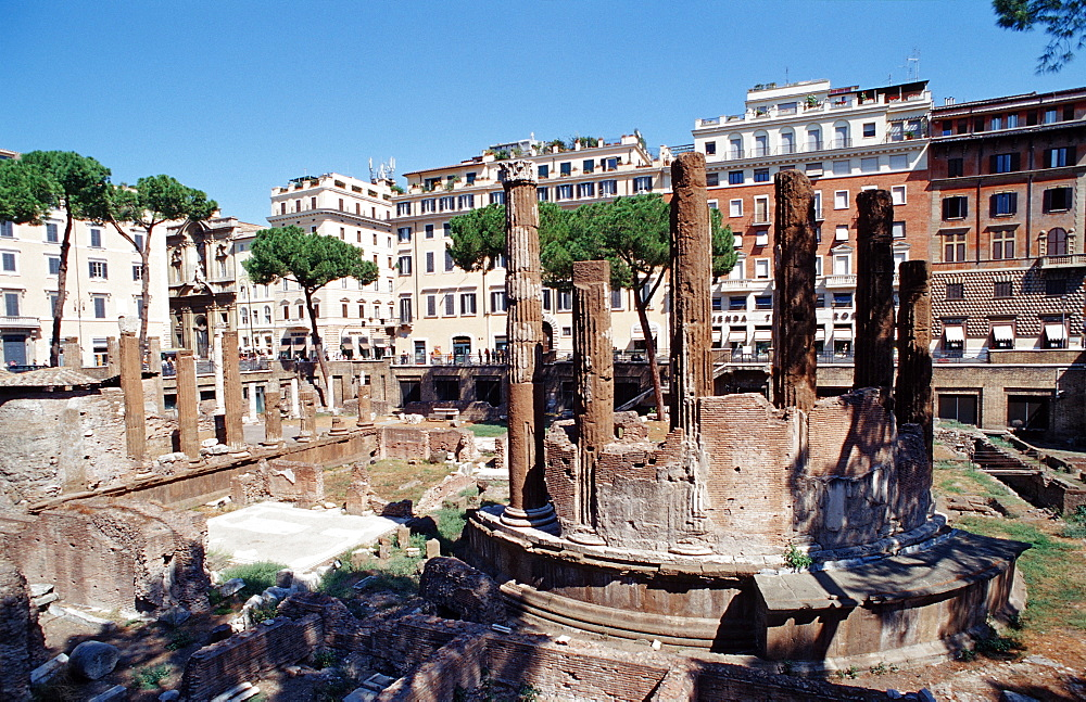 The sacred area of Largo Argentina, Italy, Rome