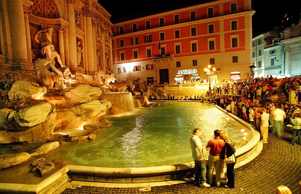 Trevi Fountain, Fontana di Trevi, Italy, Rome, Piazza di Trevi