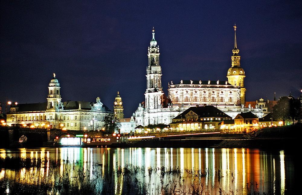 Dresden by Night, Germany, Dresden, Sachsen