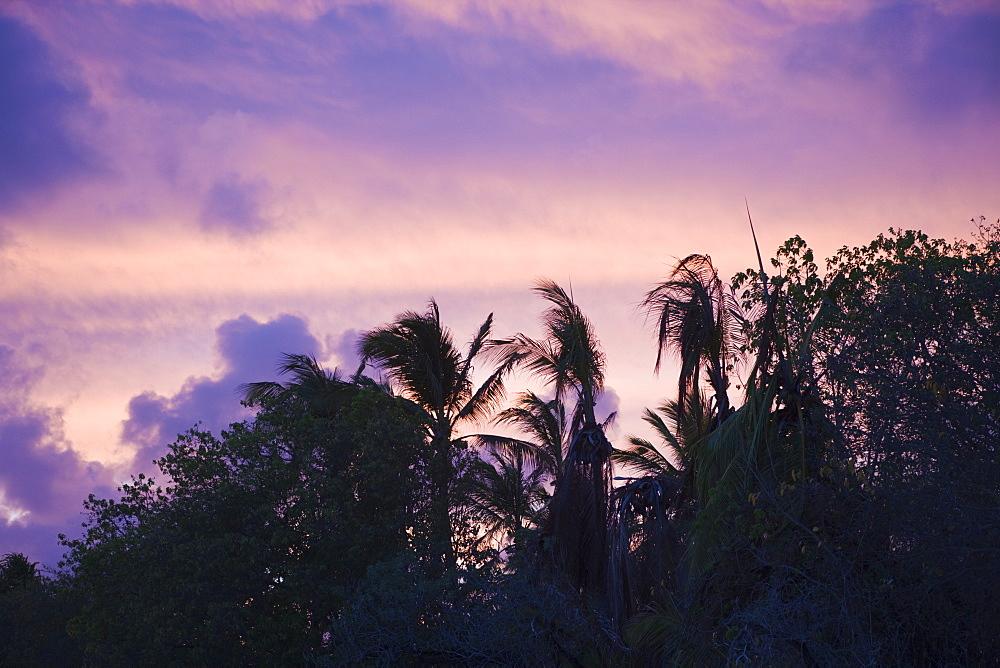 Sunset at Bikini Beach, Marshall Islands, Bikini Atoll, Micronesia, Pacific Ocean