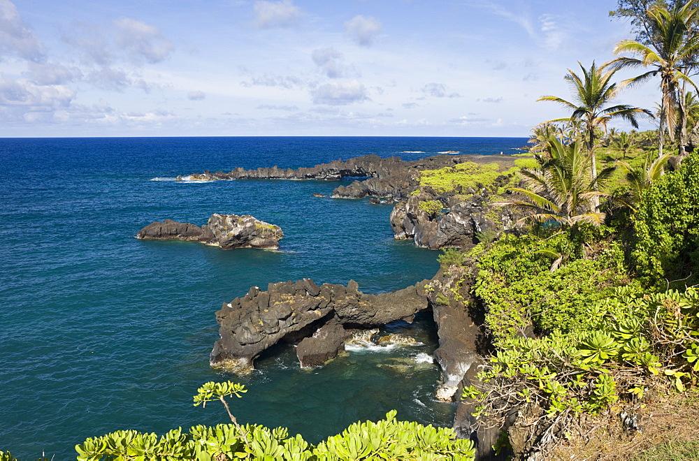 View at Waianapanapa State Park on Road to Hana, Maui, Hawaii, USA
