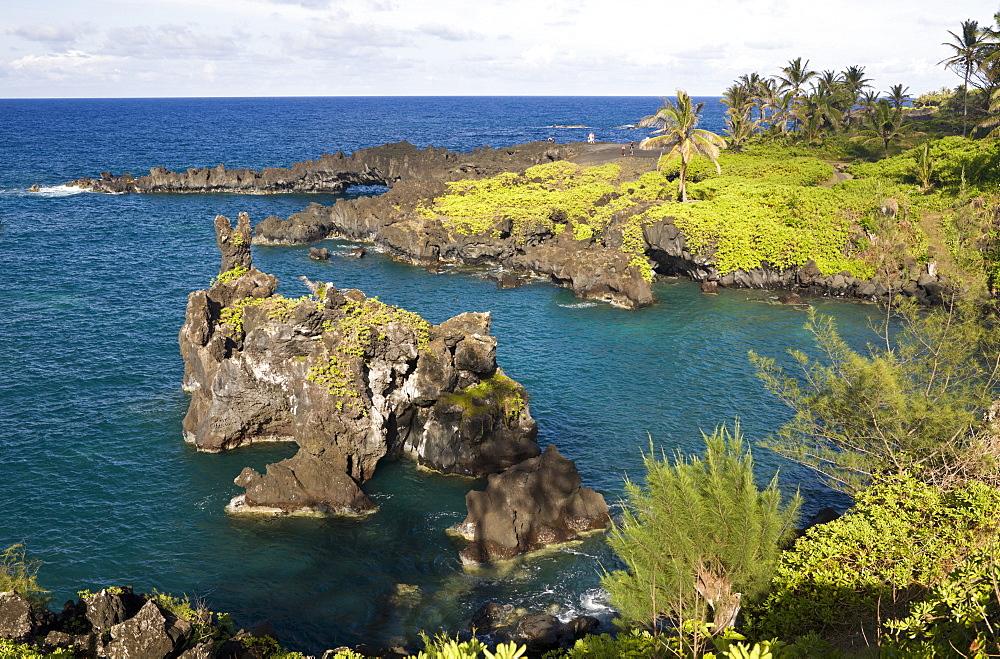 Waianapanapa State Park on Road to Hana, Maui, Hawaii, USA