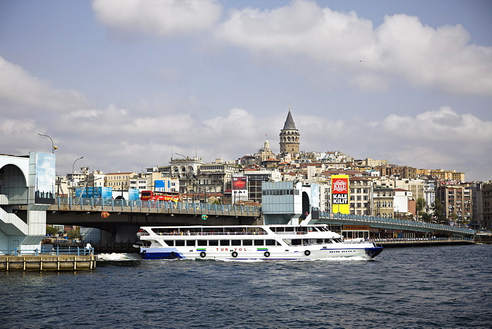 Galata Bridge and Galata Tower at Background, Istanbul, Turkey