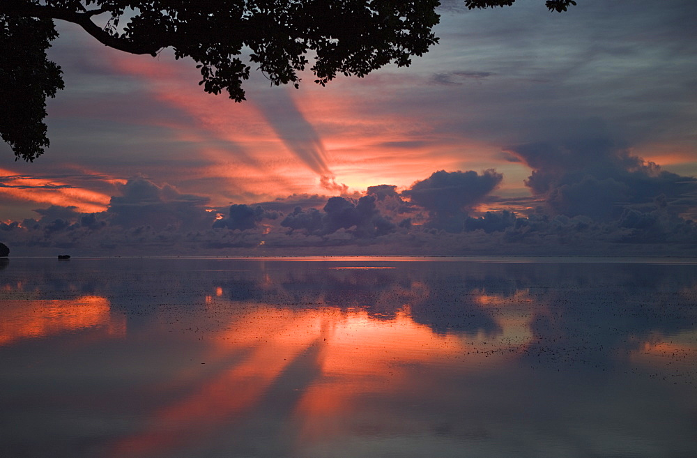 Sunset at Palau, Micronesia, Palau - 759-6636