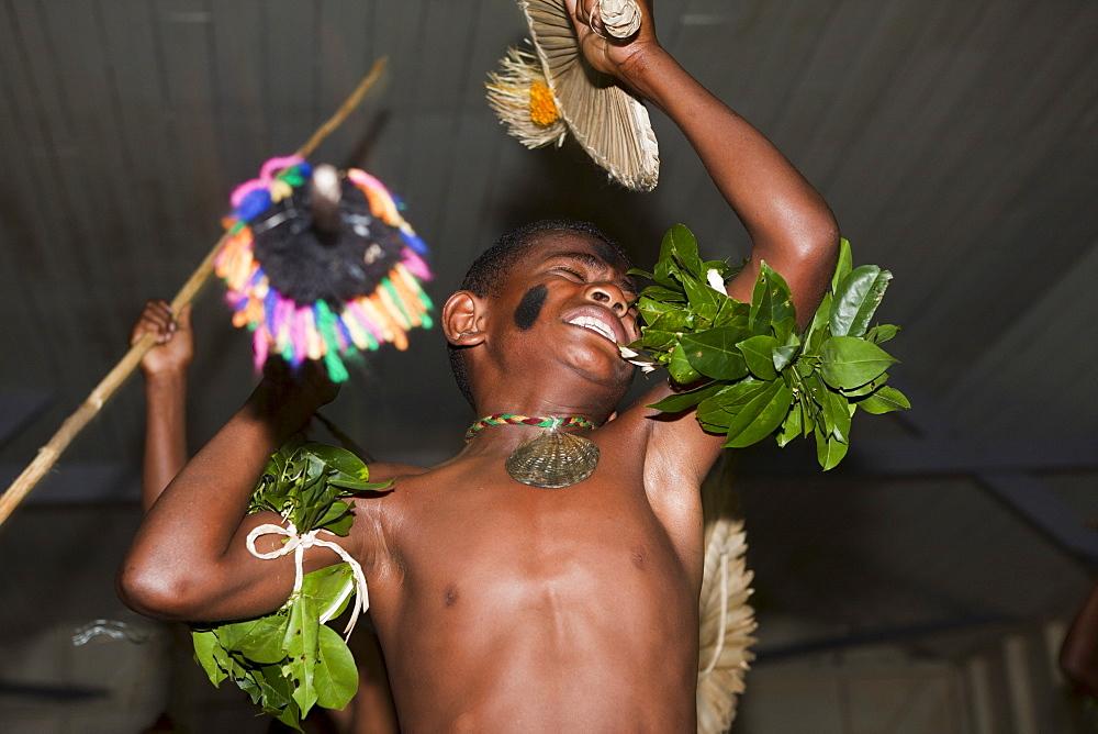 Natives perform Kava Ceremony, Makogai, Lomaviti, Fiji, Pacific