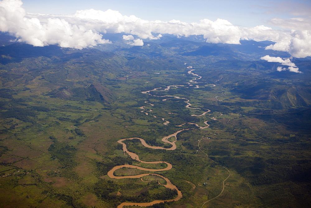 Wamena River at Baliem Valley, West Papua, Indonesia, Southeast Asia, Asia