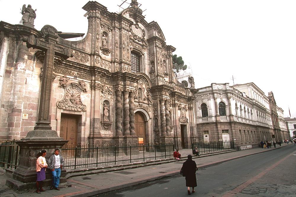 La Compania, Jesuit church, c 1605 to 1768 famous as the most ornate church in Quito, Ecuador