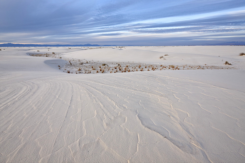 Patterns in the dunes, White Sands National Monument, New Mexico, United States of America, North America