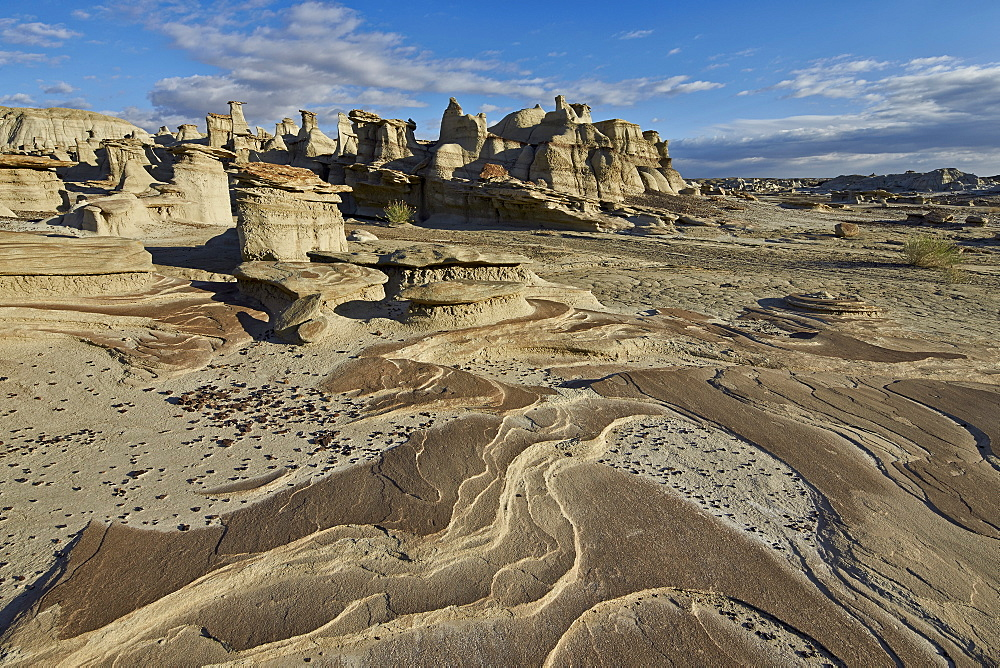 Rock layers in the badlands, Bisti Wilderness, New Mexico, United States of America, North America