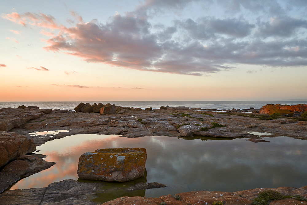 Clouds at sunset along the coast, Elands Bay, South Africa, Africa - 764-5686