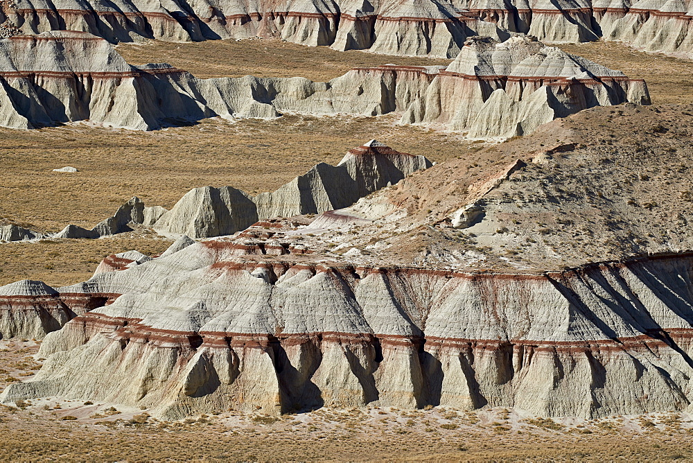 Badlands with red layers, Hopi Reservation, Arizona, United States of America, North America - 764-6246
