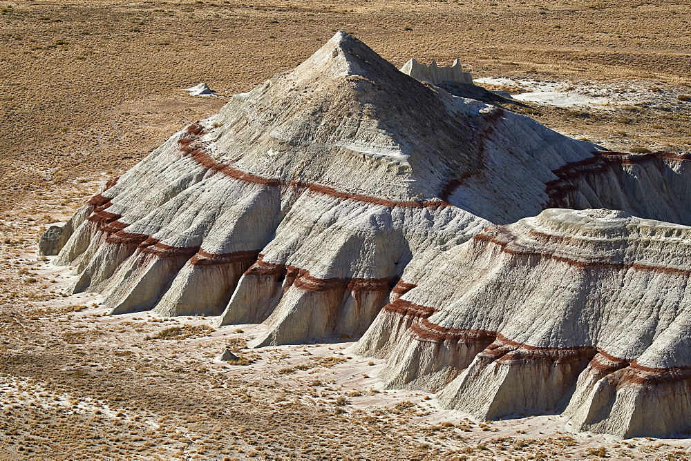 Badlands with red layers, Hopi Reservation, Arizona, United States of America, North America - 764-6248
