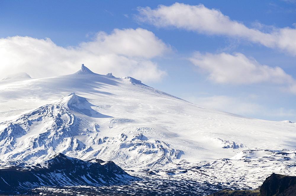 Snaefellsjokull, Snaefellsnes Peninsula, Iceland, Polar Regions