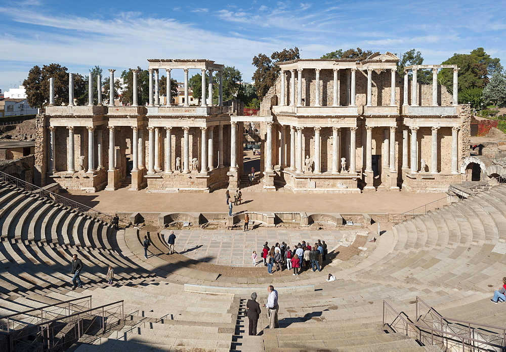 Roman Theater, Merida, UNESCO World Heritage Site, Badajoz, Extremadura, Spain, Europe