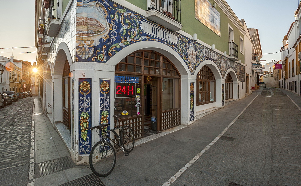 Tiled Pharmacy in Zafra, Badajoz, Extremadura, Spain, Europe