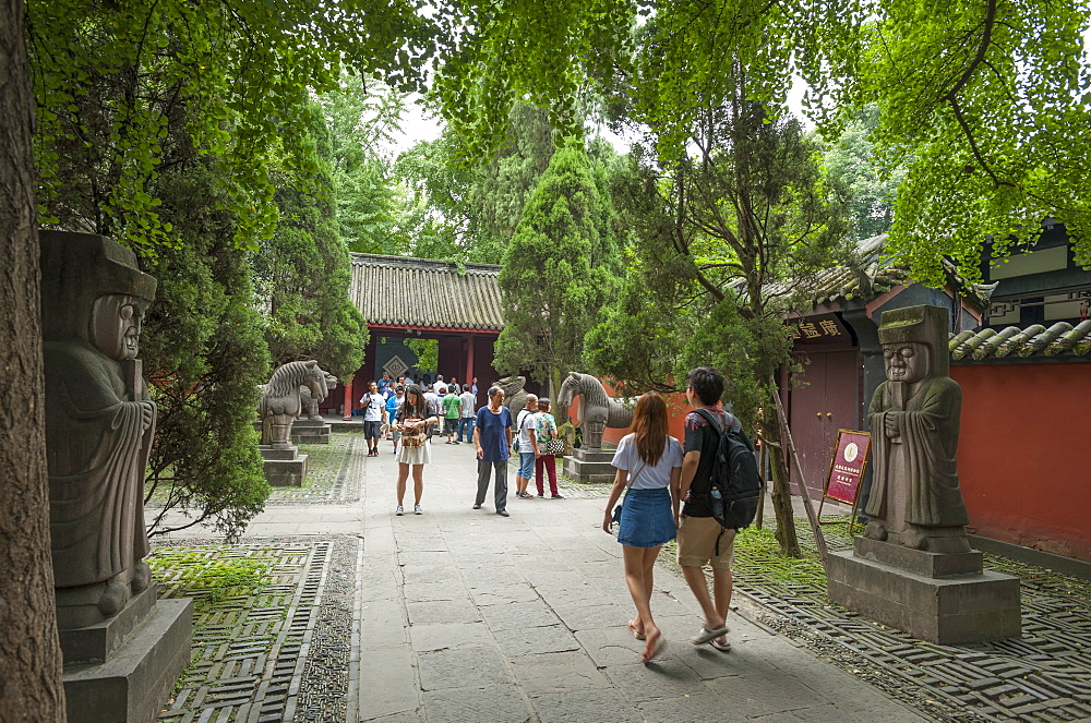 Wuhou Temple, Chengdu, Sichuan Province, China, Asia