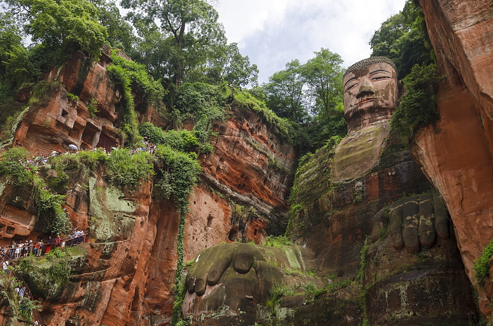 Leshan Giant Buddha, UNESCO World Heritage Site, Leshan, Sichuan Province, China, Asia
