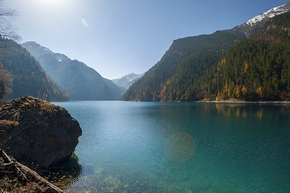 Long Lake, Jiuzhaigou (Nine Village Valley), UNESCO World Heritage Site, Sichuan province, China, Asia - 767-1211