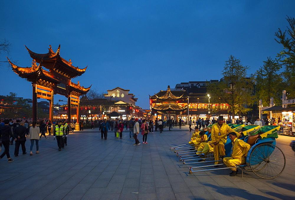 Confucian Temple, Pedestrian Street, Nanjing, Jiangsu province, China, Asia - 767-1238