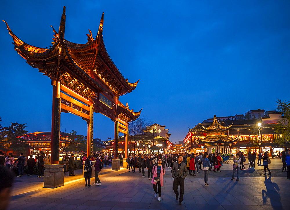 Confucian Temple, Pedestrian Street, Nanjing, Jiangsu province, China, Asia - 767-1240