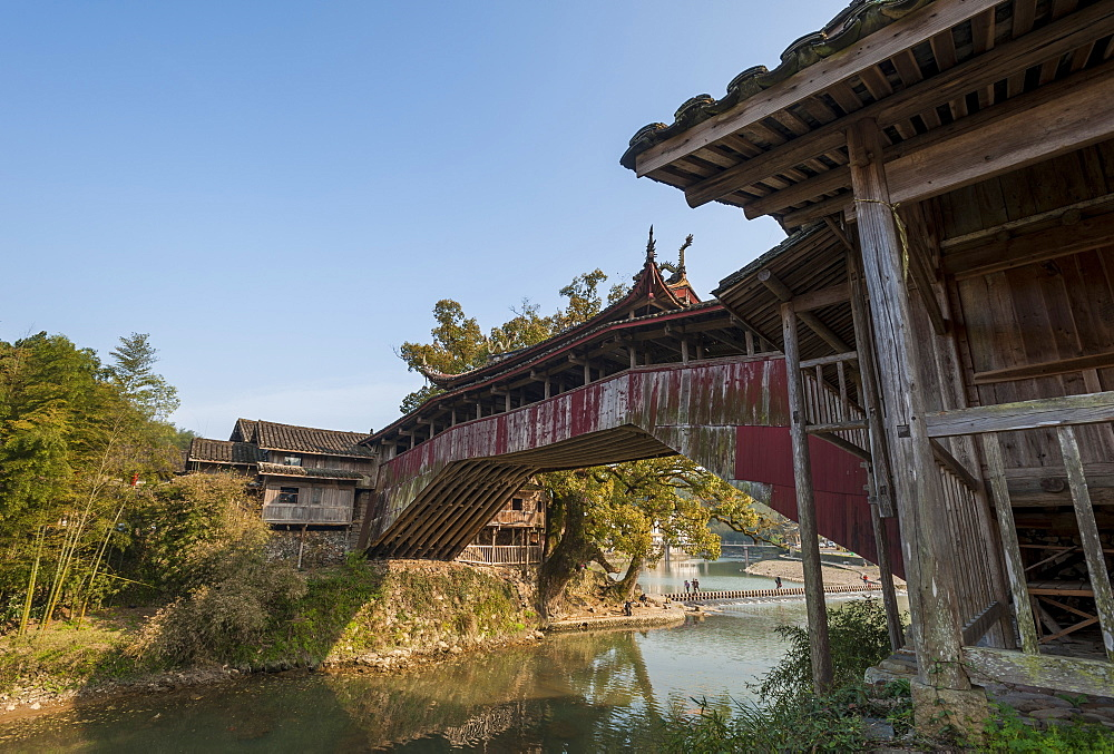 Beijian Bridge in Sixi, Taishun, Zhejiang province, China, Asia
