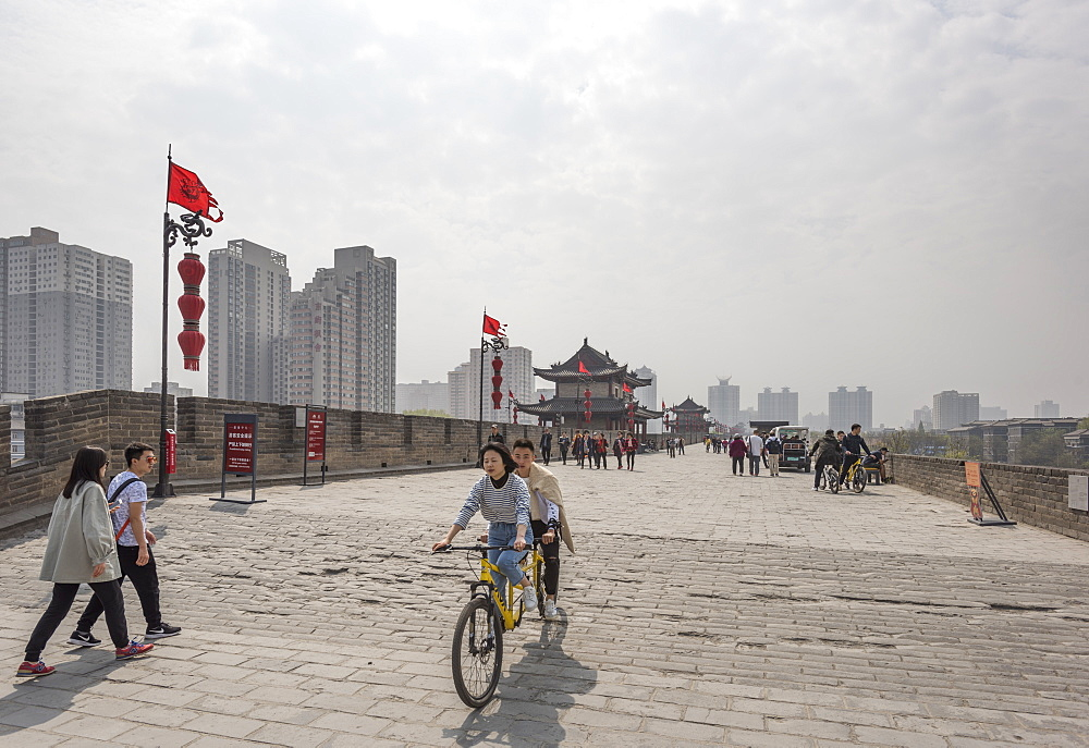 Xi'an City Wall, Shaanxi Province, China, Asia - 767-1310