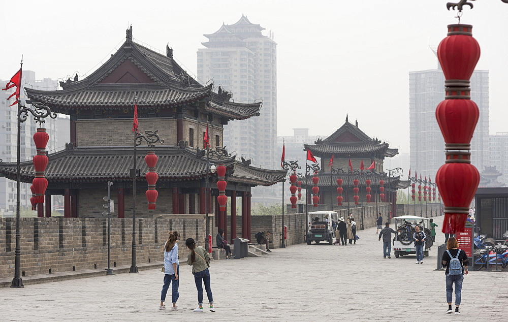 Xi'an City Wall, Shaanxi Province, China, Asia - 767-1312