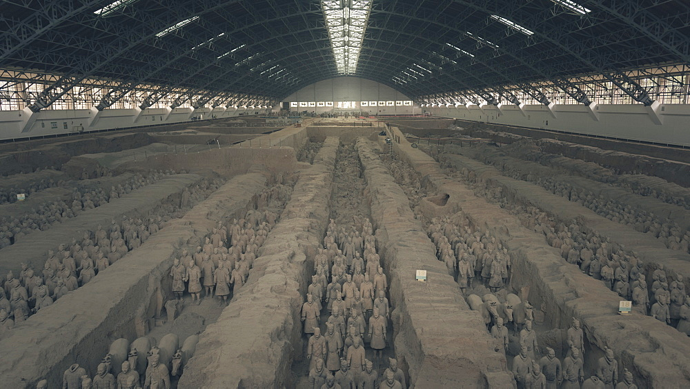 Terracotta Army at the Qin Terracotta Warriors and Horses Museum in Xi'an, Shaanxi Province, China, Asia