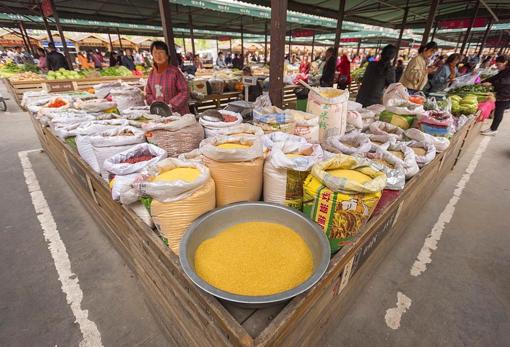 Market, Hancheng, Shaanxi Province, China, Asia - 767-1333