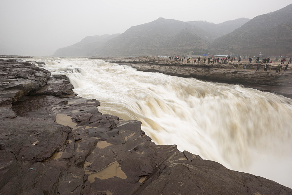 Hukou Waterfall on the Yellow River in Shaanxi Province, China, Asia - 767-1337