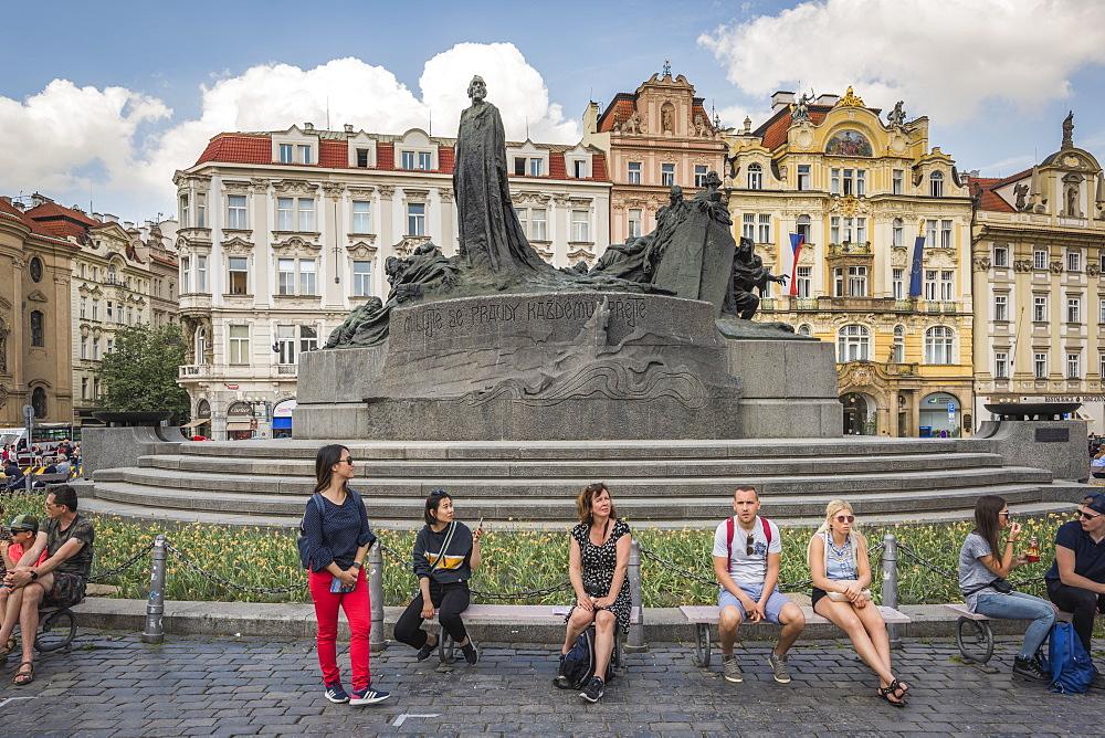 Jan Hus Monument, Prague, Czech Republic, Europe - 767-1354