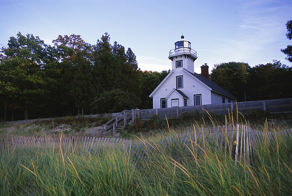 Old Mission Lighthouse, Michigan, United States of America, North America