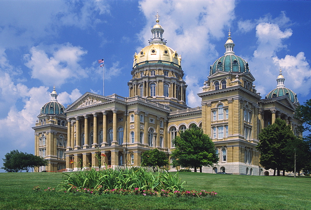 Iowa State Capitol, Des Moines, Iowa, United States of America, North America