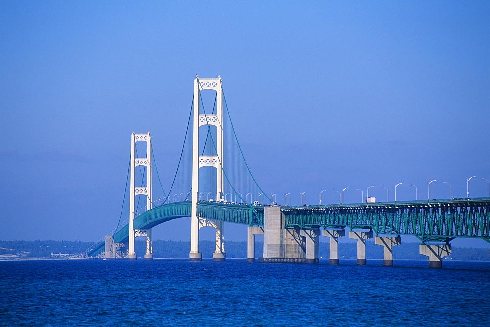 Mackinac Bridge, Mackinaw City, Michigan, United States of America, North America