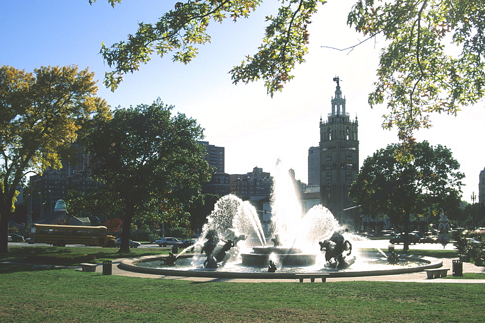J.C. Nichols Fountain, Country Club Plaza, Kansas City, Missouri, United States of America, North America
