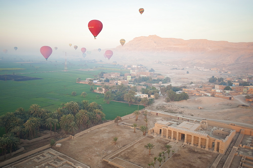 Balloons near Valley of the Kings, Luxor, Egypt, North Africa, Africa