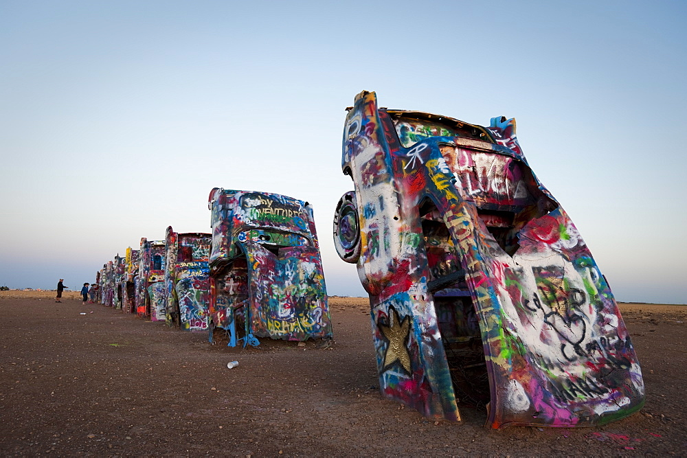 Cadillac Ranch, Amarillo, Texas, United States of America, North America - 767-564