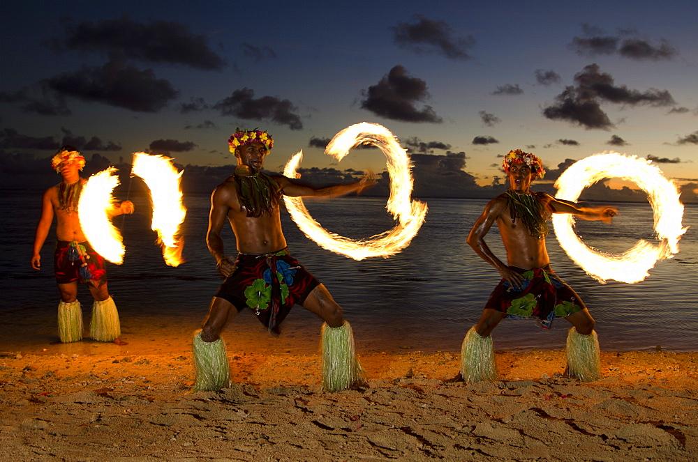 Fire Dance, Viti Levu, Fiji, Melanesia, Oceania, Pacific Islands, Pacific - 767-821