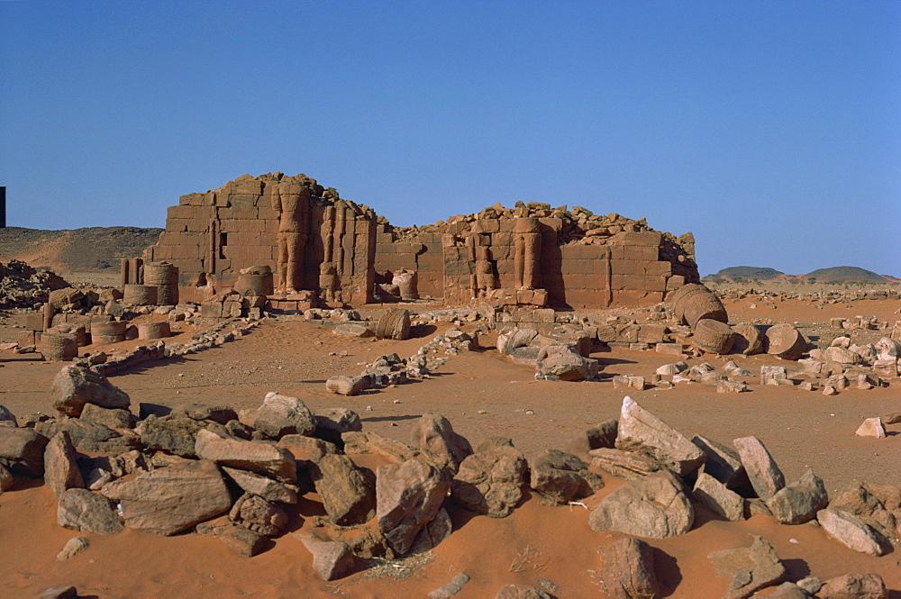 North East temple, Musawwarat es Sofra, Es Sofra, Sudan, Africa